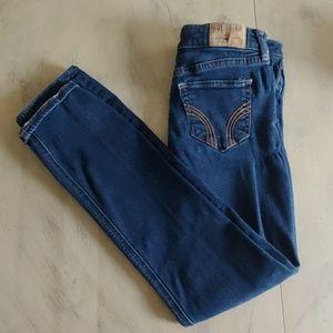 Womens Hollister Stretch Dark Jeans